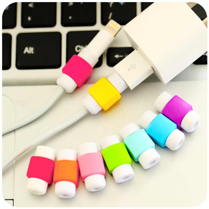 USB кабель протектор Мультфильм крышка для iPhone 5 5S 6 6S SE 7 8 плюс X XR XS Max чехол зарядное устройство кабель для передачи данных аксессуары наушников