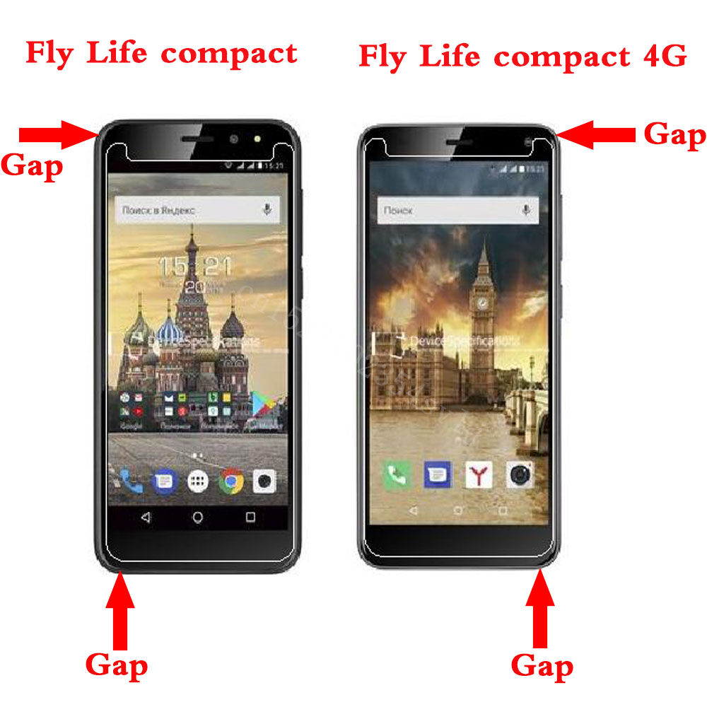 Tempered Glass Explosion-proof Protective Film Screen Phone For Fly Life Compact 4G/Fly Life Compact