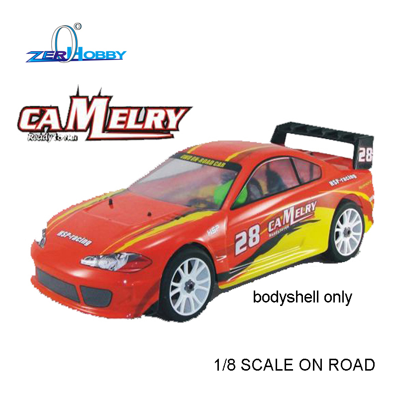 HSP 1/8 On-road Rally Racing Body for Hobby Remote Control RC Car Nitro CAMELRY Control Remote Car Body Shell of model 94766 1 10 rc car 190mm on road drift rally subaru body shell blue