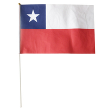 Chile hand flag Vietnam flag flaying 20X30cm 10piece residente chile