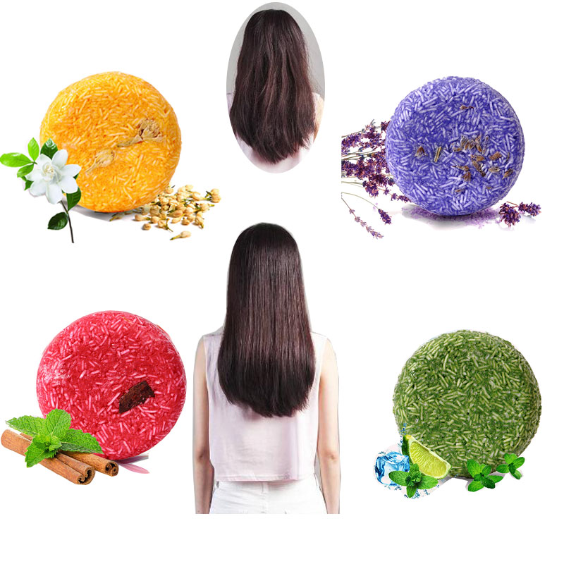 Hair-Shampoo Soap Natural Anti-Dandruff-Off Pure Oil-Control Handmade