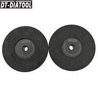 DT DIATOOL 2units Dia 4.5/115mm Grit #30 Vacuum Brazed Diamond Flat Grinding Wheel for Beveling Wheel Grinder Disc M14 thread
