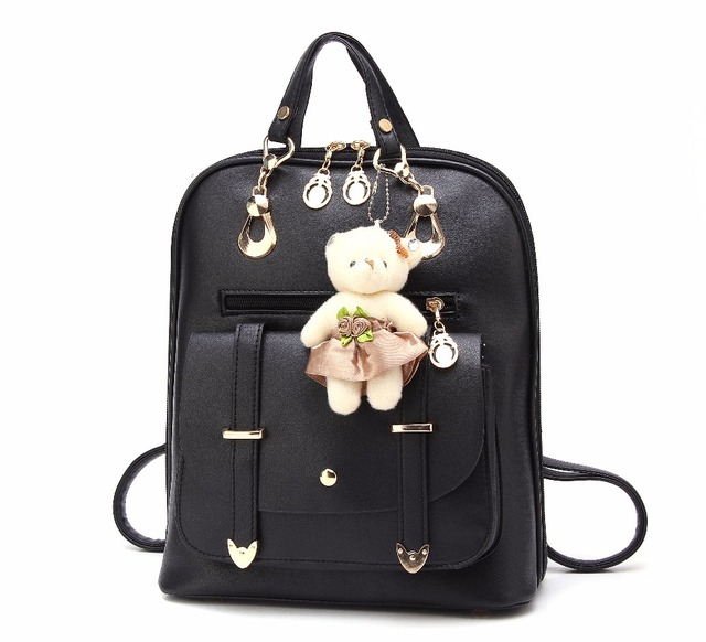 New 2017 High Quality Women s Backpack Famous Brands Fashion Lady Leather  Bagpack School Back packs For Teenage Girls fe683c7d99f3f