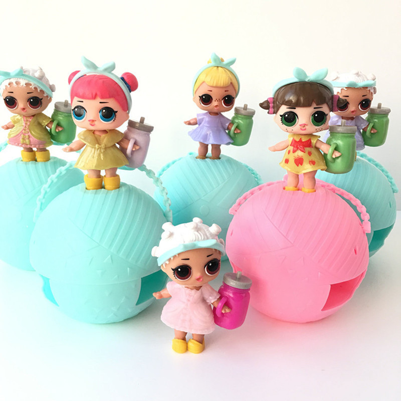3/6Pcs/Set boneca POP LOL girls Magic Funny Removable water spray Egg Ball Doll Color change Toys Figures action Gift for girls