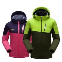 Climbing Outdoor Jacket Softshell Jacket Men Women Waterproof Windproof Hiking Jacket Fleece Mountaineering Lightweight