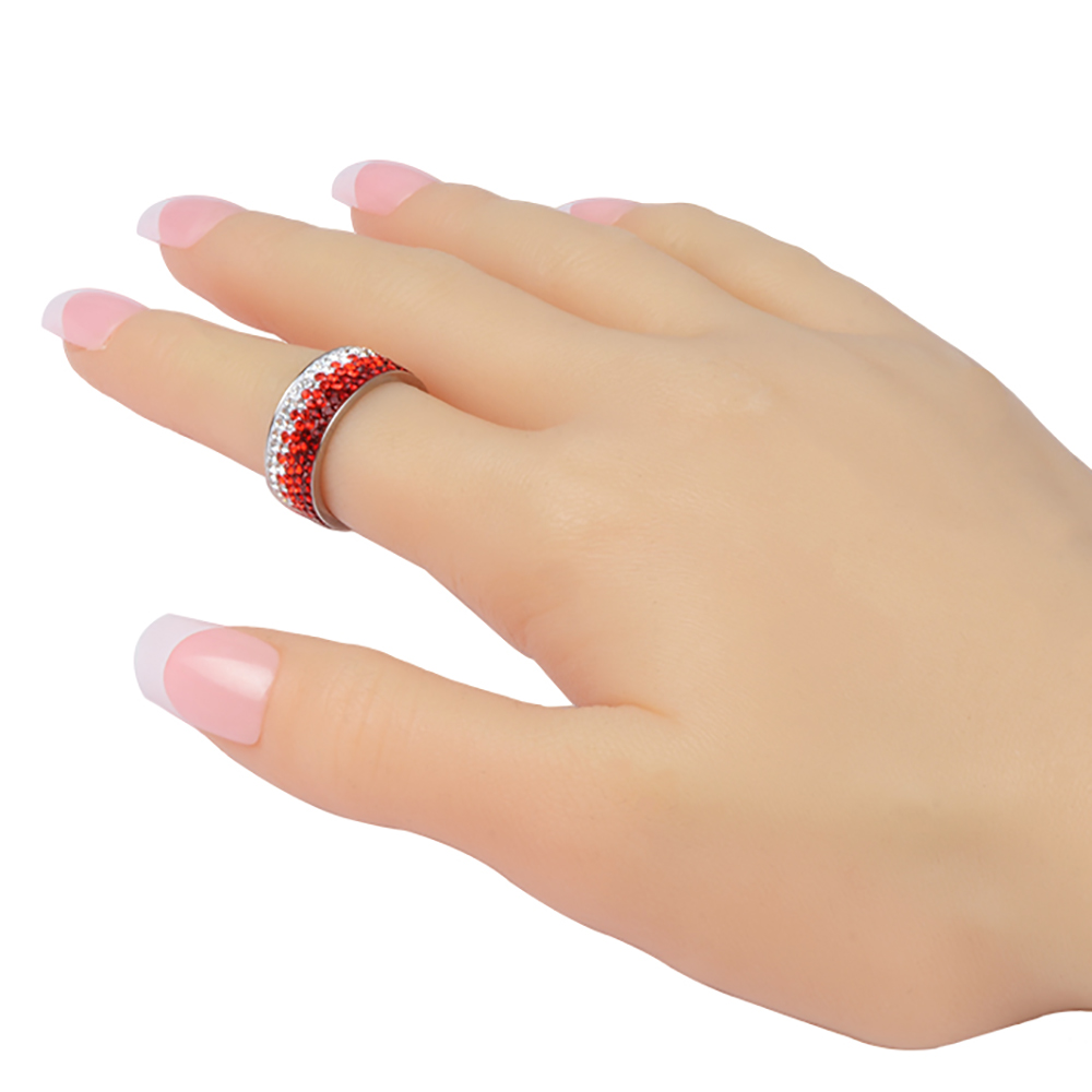 Chanfar 6 7 8 9 10 sizes Hot Sale Elegant AAA Crystal Ring Love Charm Stainless Steel Rings For Women Female Male Jewelry 4