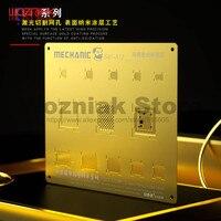 MECHANIC 3D S40 그루브 아이폰 A8 A9 A10 A11 A12 칩 유지 보수 템플릿에 대 한 황금 심기 틴 스틸 그물