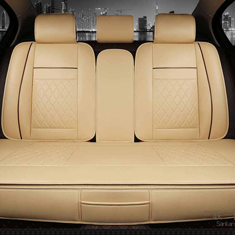 Водонепроницаемый сзади заднее сиденье автомобиля чехлы универсальные PU кожа подушки протектора мат подходят для большинства автомобильн...