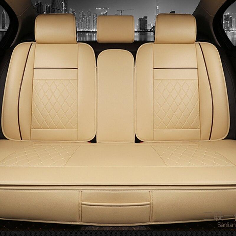 Le siège de voiture arrière imperméable à l'eau couvre le tapis universel de protection de coussin en cuir d'unité centrale convient à la plupart des accessoires de voiture d'intérieur