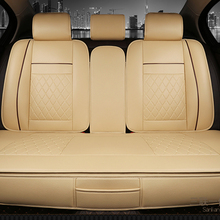 Waterproof Back Rear font b Car b font Seat Covers Universal PU Leather Cushion Protector Pad