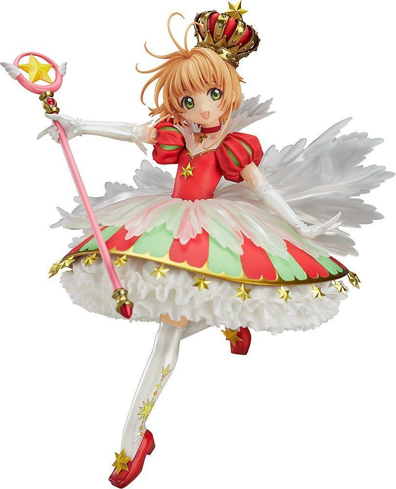 Card Captor Kinomoto Sakura 1/7 Scale Painted Figure 15th Anniversary Sakura Doll PVC Action Figure Collectible Toy 26cm KT3366 23cm japanese anime figure cardcaptor sakura li syaoran action figure doll 1 7 scale pvc painted figure model toy