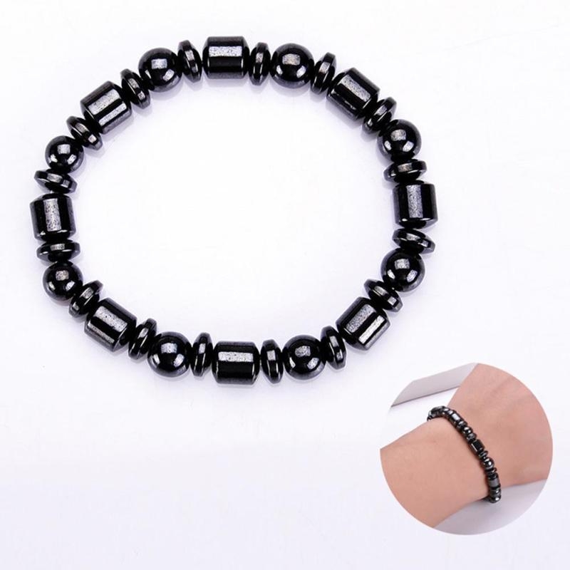 Gesundheitsversorgung 1 Pcs Gesundheits Gewicht Verlust Magnet Armband Schwarz Stein Magnetische Therapie Abnehmen Produkt Armband Fußkettchen Schönheit & Gesundheit