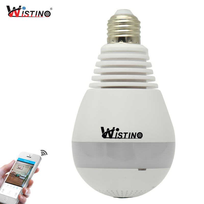 CCTV Wifi IP Camera Wi-fi Fisheye VR Panoramic Bulb LED Light 960P 360 Degree 1.3MP Home Security WiFi Monitor
