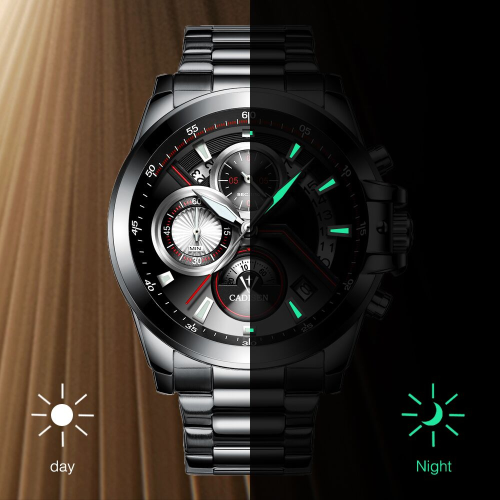 CADISEN Heren business horloge Top militair merk Casual Fashion luxe - Herenhorloges - Foto 6