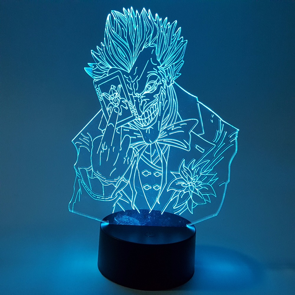 Led Lamps Modest Batman Joker 3d Led Nightlight Rgb Changing Visual Illusion Led Lamp Suicide Squad Action Figure Joker Novelty Light For Gift To Rank First Among Similar Products Lights & Lighting