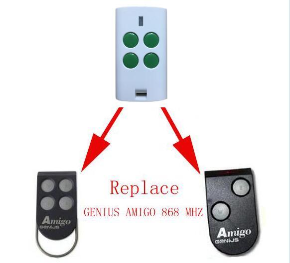 For GENIUS AMIGO compatible garage door remote control 868MHZ after market marantec remote control 868mhz