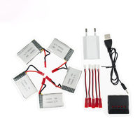 JJRC H11D lipo 3.7v 1000mah battery 5pcs and JST batteries Lipo charger with plug for H11C H11WH HQ898 rc Quadcopter drone Part