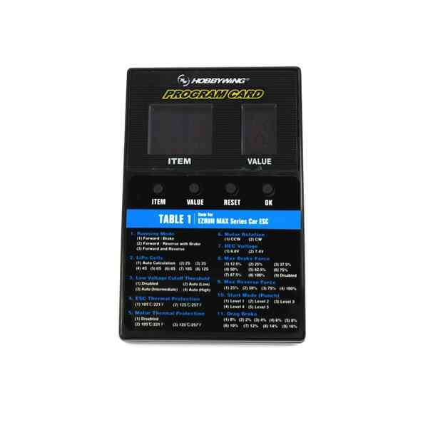 3 en 1 LED ESC caja de tarjeta de programa para Hobbywing XERUN EZRUN serie MAX coche/Serie Platinum/SEAKING serie RC barco ESC