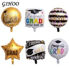 50 pcs 18 inch 졸업 라운드 ballons 2019 congrats foil balloons 파티 용품 장식 선물 happy globos back to school