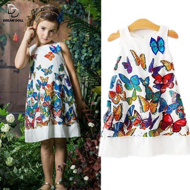 2015 New Girls Summer Princess Dress Kids Fashion Brand Girls Hot saling Baby Kids Clothing Set dresses Party Butterfly
