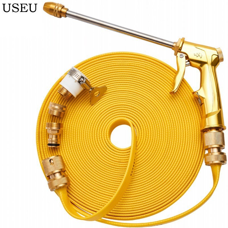 USEU 100% Heavy Duty Metal Spray Gun with Full Brass Nozzle Washer Car Washer Nozzles Sprayer Car Wash Gun Garden Hose Nozzle title=