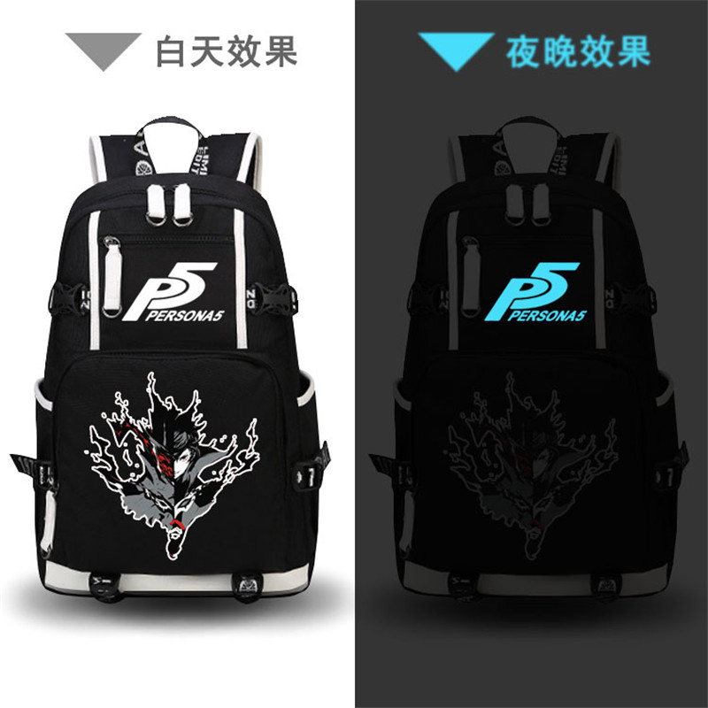 Game Persona 5 P5 Printing Backpack Ren Amamiya Persona Cosplay School Backpack Harajuku Laptop Backpack Travel Bags Rucksack 2018 persona 5 makoto nijima cosplay costumes women school uniform