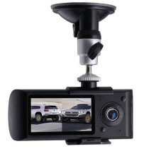 Dual Camera Car DVR R300 with GPS and 3D G-Sensor 2.7″ TFT LCD R3000 Cam Video Camcorder Cycle Recording Digital Zoom