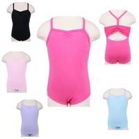 3 14Y Toddlers Teen Girls Ballet Unitards Gymnastics Leotard Cotton Sleeveless Ballet Dancewear With Thin Strapes