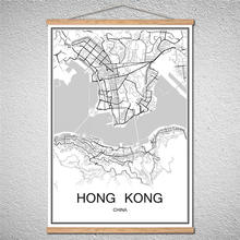Buy hongkong map and get free shipping on aliexpress hongkong with frame world map ankara city poster print picture oil painting modern canvas or decor gumiabroncs Choice Image