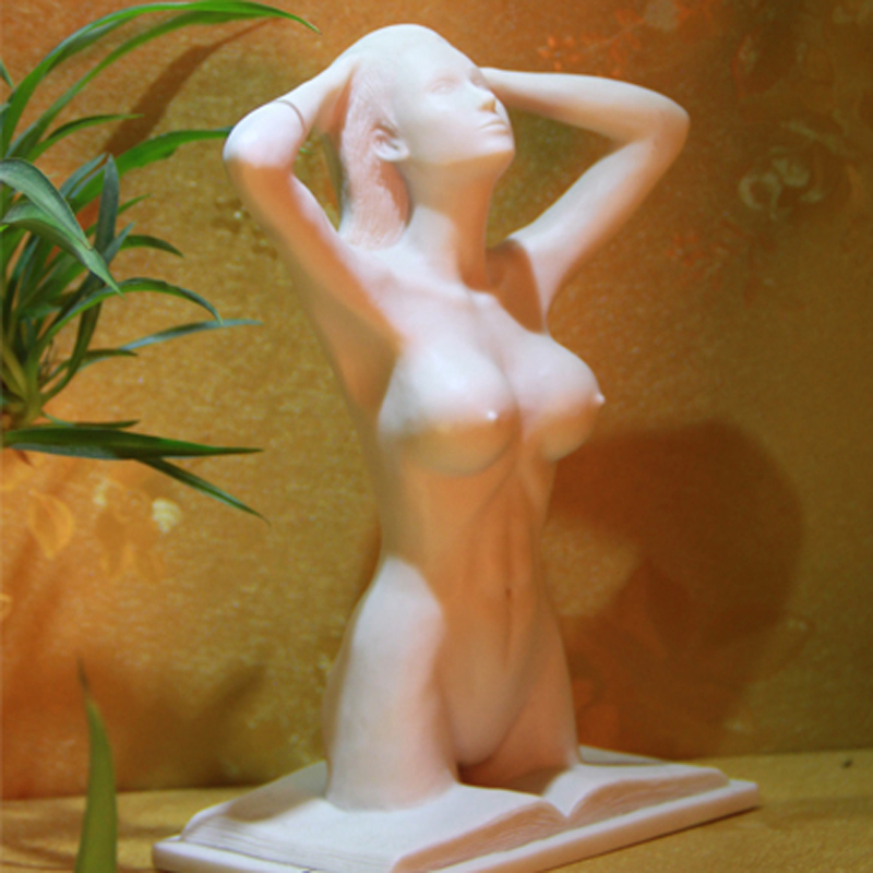 Resin Woman Body Art Statue Office Table Displayed Human Model Best Birthday Gift Artware ...
