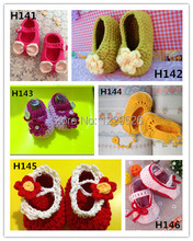 Fashion Crochet baby shoes infant Blue knitted first walker Crochet baby shoes first walker loafers 0-12M cotton Baby shoes