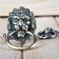UNILOCKS Hardware Decorativa Lion Head botão Do Armário de Cozinha Ea Gaveta Pull (Tamanhos: 64mm * 52mm, anel diâmetro: 52mm)