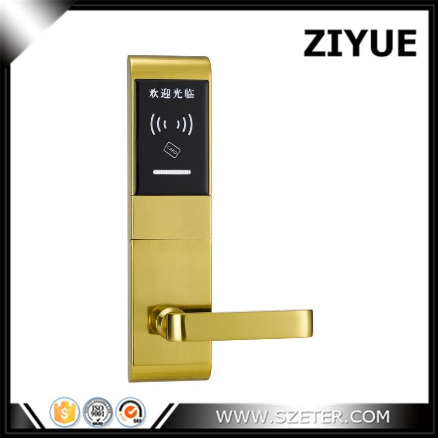 Electronic lock for hotel door Hotel lock rfid EM Card electronic  hotel lock   magnetic card ET660RF hotel lock system rfid t5577 hotel lock gold silver zinc alloy forging material sn ca 8037