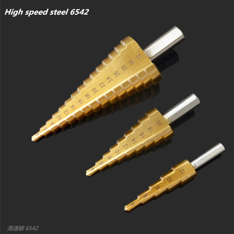 Steel High Speed drill Woodworking Titanium Hardening 4-12 / 20 / 32mm Metal drills Electric tools Drill bits set wlxy wl 1301 high peed steel drills set 13 pcs page 2