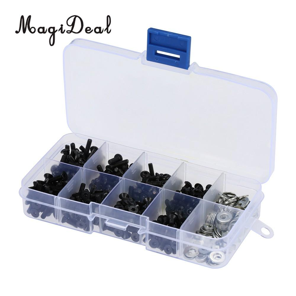 MagiDeal Professional 180Pcs/Lot Special Repair Tools Screws Box Kit Fit for 1/10 HSP RC Cars Use Remote Control Parts Apply