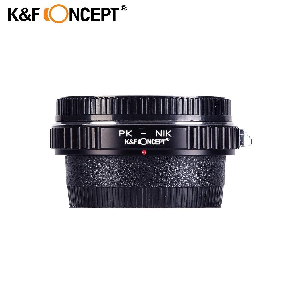K & F CONCEPT Optique En Verre Anneau Adaptateur pour Pentax PK K Lentille (à) fit pour Nikon AI AF F Caméra Mont Caméra Corps