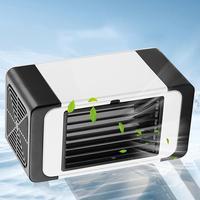 USB Luftkühler Mini Tragbare Silent Air Conditioner Fan Wasser Lüfter Geräuschlos Verdunstungs Luftbefeuchter für Zimmer Büro|Ventilatoren|   -