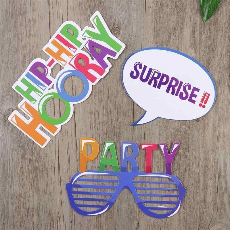 22 pcs с днем рождения»; реквизит для фотокамер; забавные креативные Декор ко дню рождения для празднования дня рождения