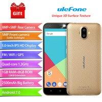 Ulefone S7 Smartphone 5 0 MTK6580A Quad Core Android 7 0 1GB RAM 8GB ROM Dual