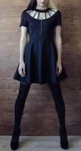 Rosetic Gothic Dress Women Black Hollow Backless Summer Vampire Witch A-Line Fashion Preppy Street Sexy Wild Goth Mini Dresses