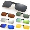 Outeye 2017 grife das mulheres dos homens polarizados clip sobre óculos de sol espelho lente óculos de sol óculos de condução óculos de visão noturna anti-uva