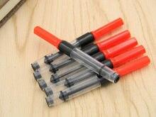 Conversor de tinta caneta de cobre, 5 peças vermelha 3.4mm refil de caneta de água