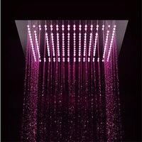 16 Inch Square Shower LED Shower Head Hight Quality Saving Water Big Rainshower pommeau de douche Rainfall Enjoy Shower Faucet