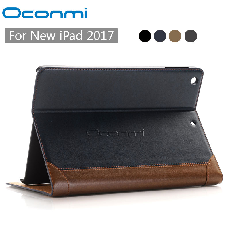 Luxury Wallet book PU leather case for Apple iPad 2017 new stand shockproof tablet cover for New iPad 2017 case coque fundas for apple ipad air ii 2 pu leather stand luxury new cover case for ipad 6 a1566 a1567 9 7 inch cartton wallet shell