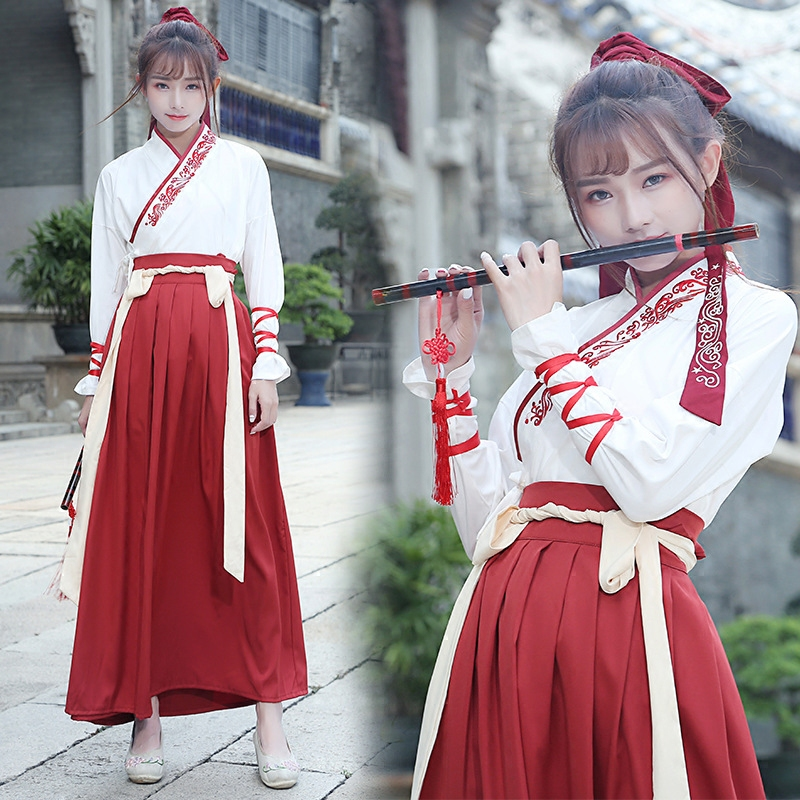 Chinese Traditional Hanfu Dress for Women Ancient Costume Women Princess Dance Clothing Tang Dynasty Outfit Dancewear