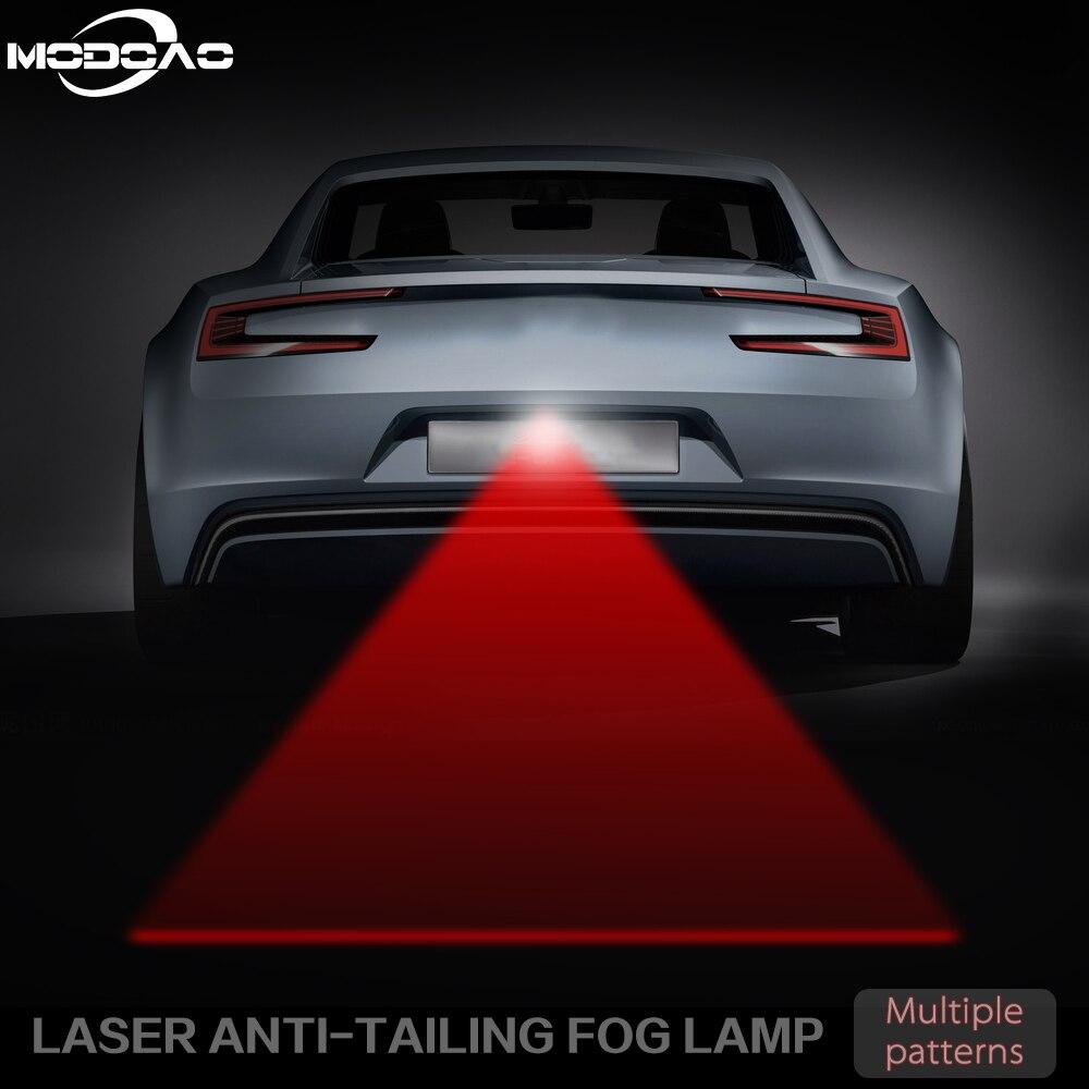 Задний лазерный задний противотуманный фонарь с защитой от столкновений, красная линия, автомобильная Тормозная парковочная лампа, предуп...