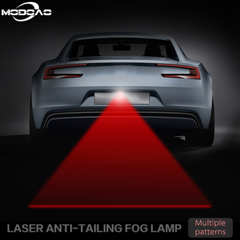 цена на Anti Collision Rear-end Car Laser Tail Fog Light Red Line Auto Brake Parking Lamp Rearing Warning Light Car Styling New Pattern
