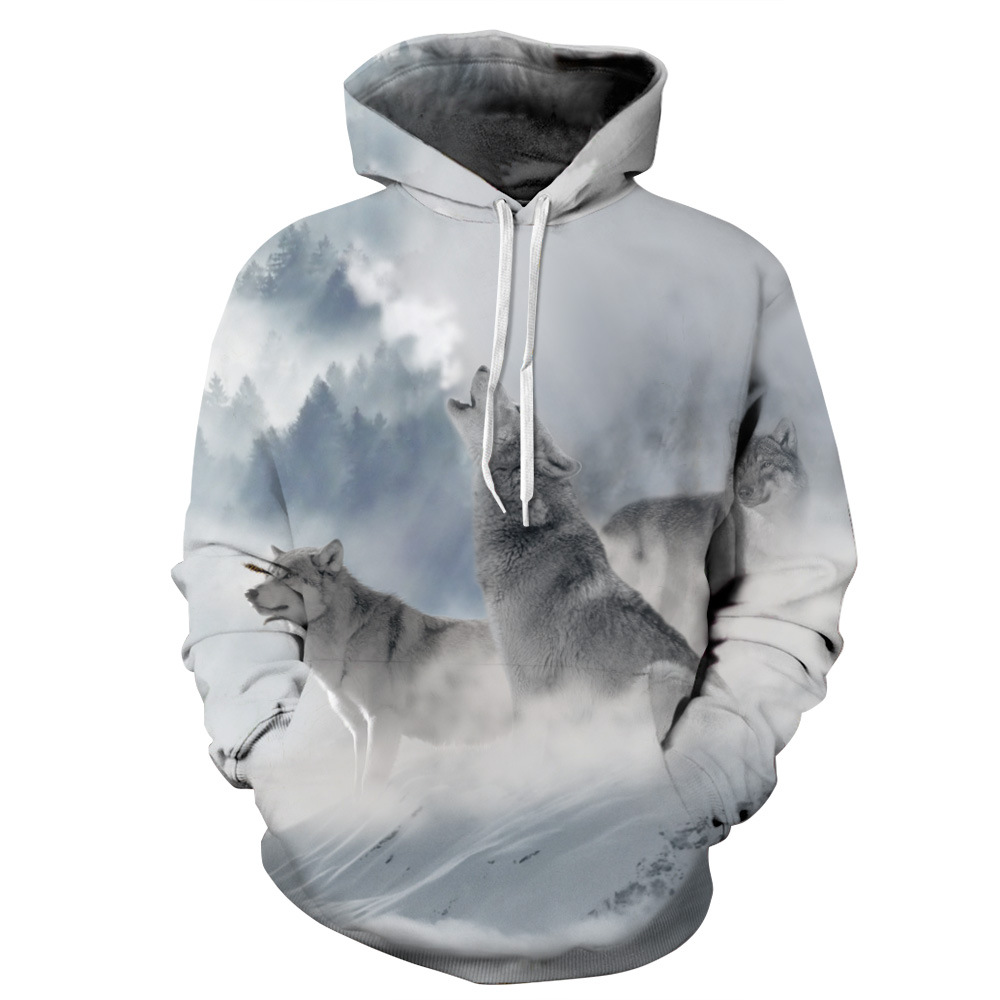 New Cosmos Digital Printing Unisex Coat Jacket Hoodie Real Painting Wolf f0a60a830067