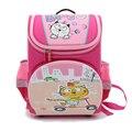 Nuevo 2016 cartoon cat impresión rosada de las muchachas de la escuela mochilas bolsas a prueba de agua plegable ortopédicos niños mochilas escolares para niños bolsas