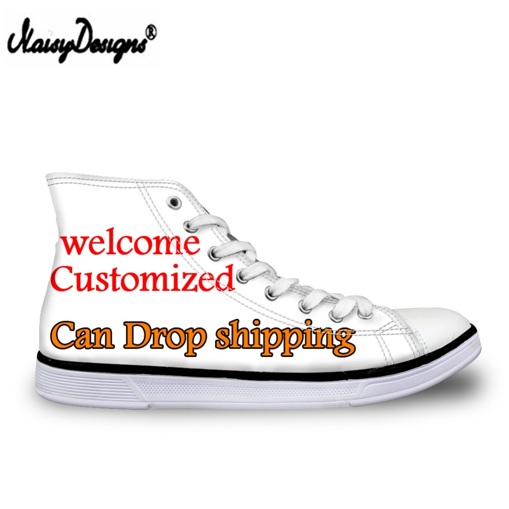 Detail Feedback Questions about Noisydesigns Custom Images Men s Women  Vulcanize Shoes Classic Superstar High Top Canvas Shoes Drop Shipping Men  Flat ... 378b8ad35702